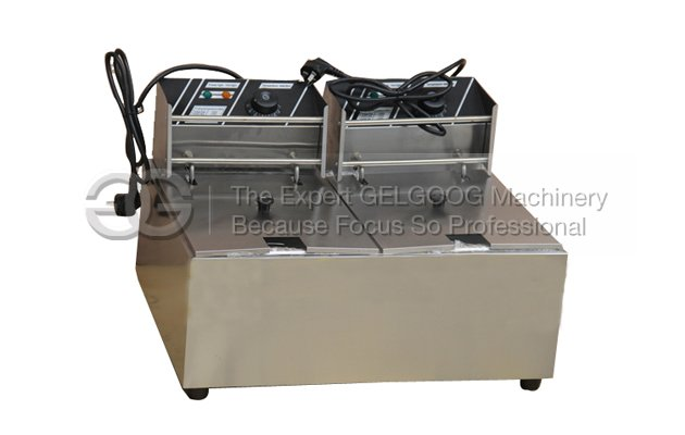 Double Tank Double Baskets Nigerian Chin Chin Frying Machine