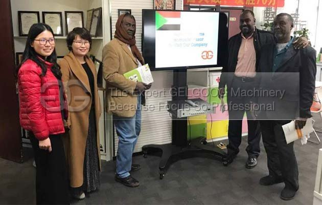 sudan customer visit us for french fries production line