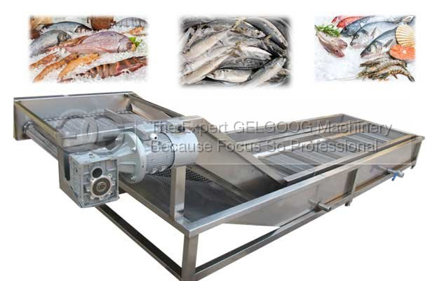 automatic seafood ice glazing machine for sale china supplier