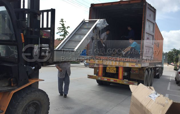 automatic potato chips production line shipped to chile