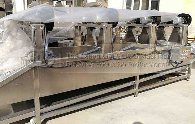 fruit vegetable washing and air drying machine sold to jordan