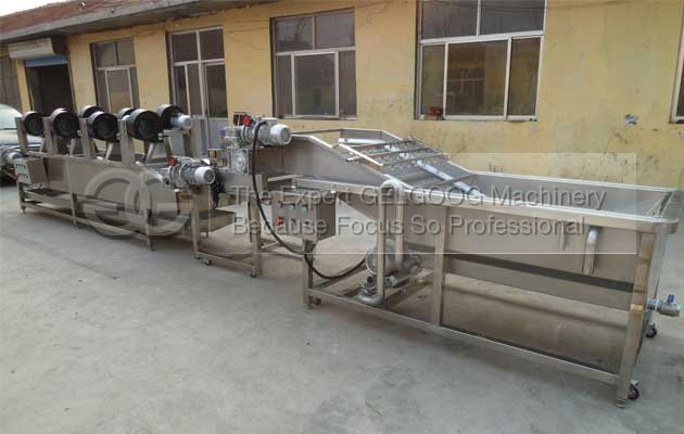 fruit vegetable washing and air drying machine sold to Korea