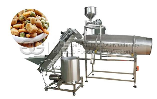 drum type snack food flavoring machine shipped to tobato