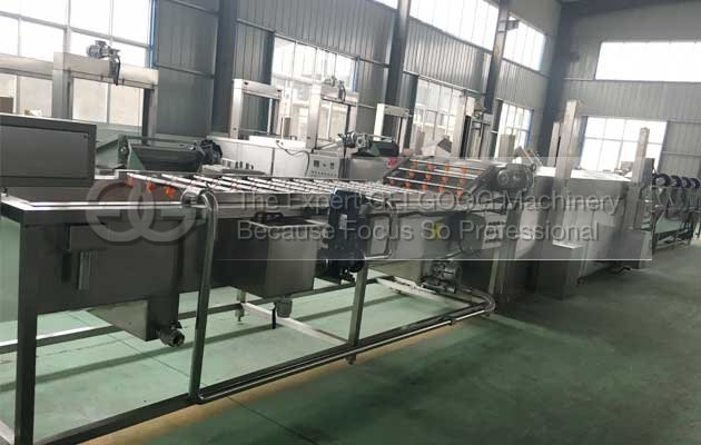 fruit and vegetable washing and air drying machine