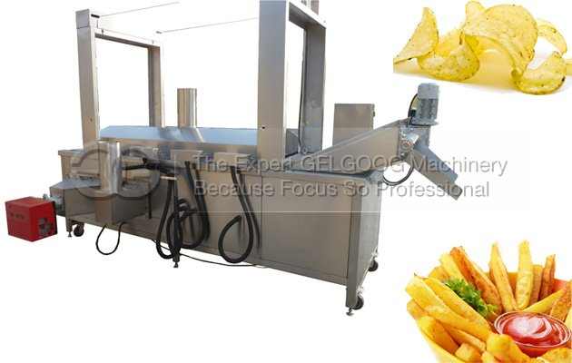 Electric Heating Continuous Fryer Machine|Finger Chips Fryer Machine