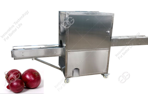 Stainless Steel Onion Root Cutting Machine Manufacturer Commercial