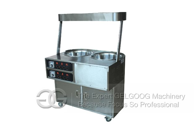 Electric Double Heads Chestnut Roasting Machine