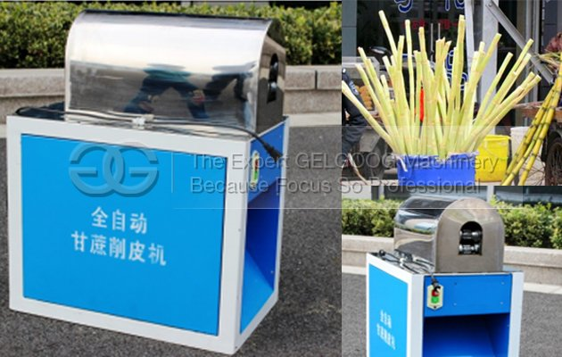 automatic suagr cane peeler machine
