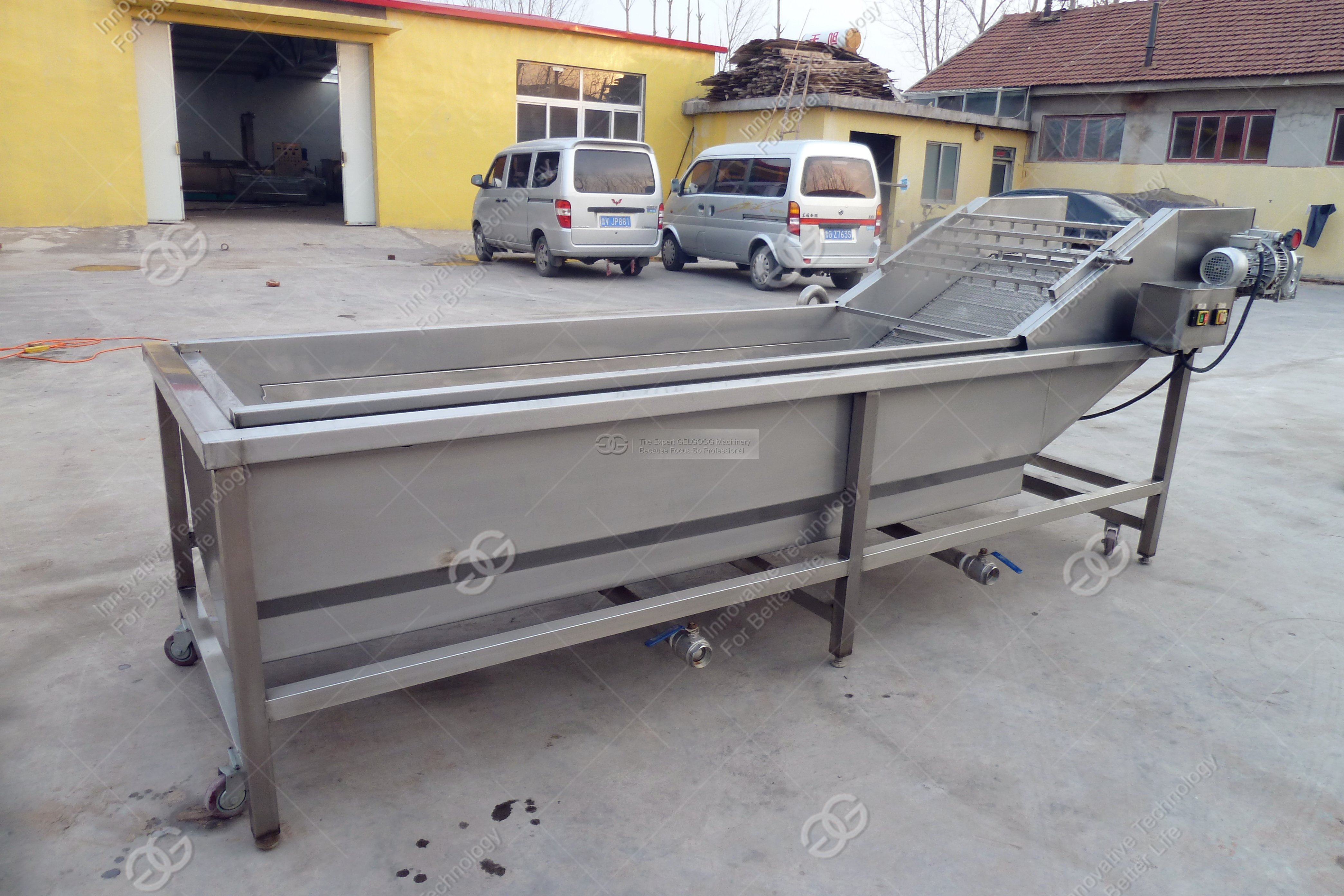 commercial fruit and vegetable washing machine