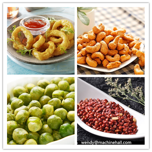 peanut fryer machine|onion rings frying machine|cashew nut frying machine|bean peas frying machine