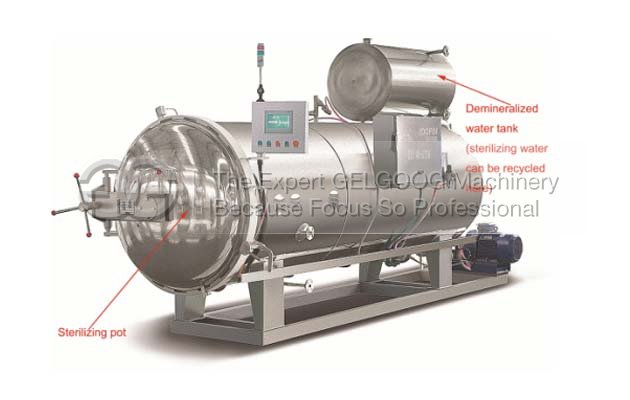 Sterilizing machine for jar/for can/milk