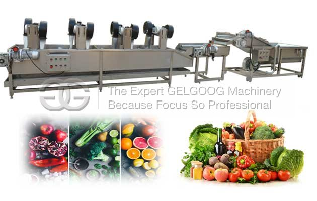 fruit vegetable washing and air dryer machine