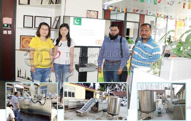 pakistan customer visit for frying machinery