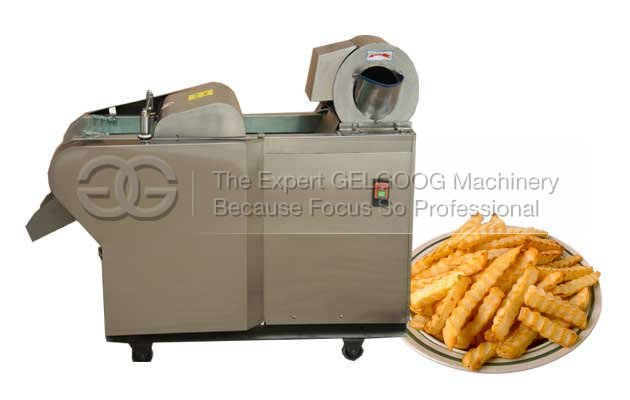Crinkle fries cutting machine