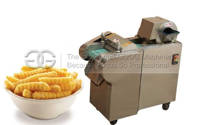 how are crinkle cut fries made