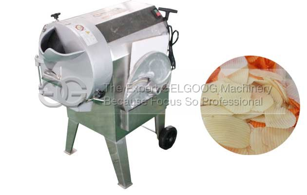 Corrugated Potato Chips Cutting Machine|Wave Shape Potato Cutter Machine