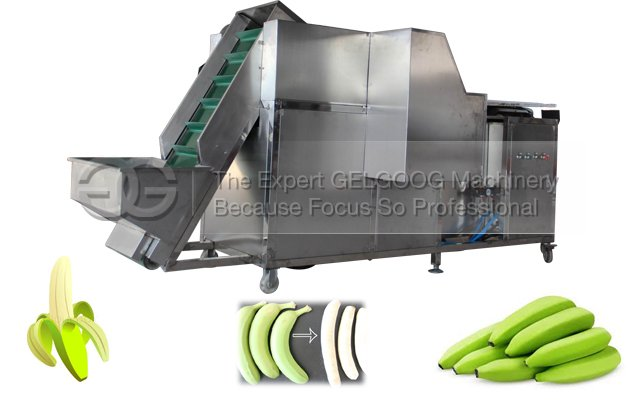 Automatic Green Raw Banana Peeling Machine