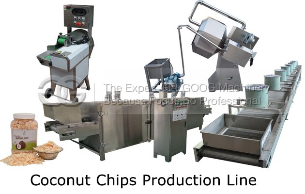coconut chips production line