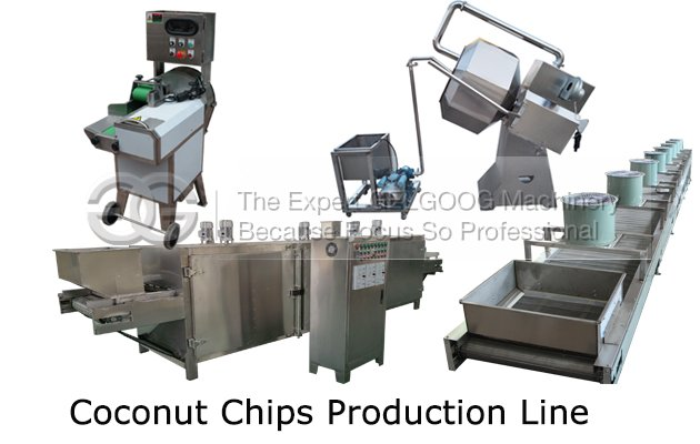 production of coconut chips