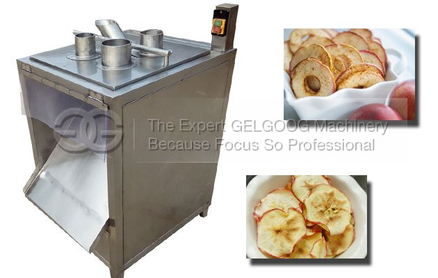 automatic fruit apple chips cutting machine
