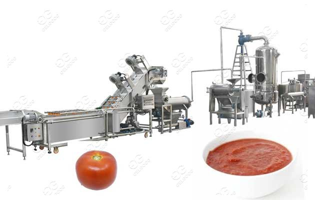 tomato puree processing plant factory