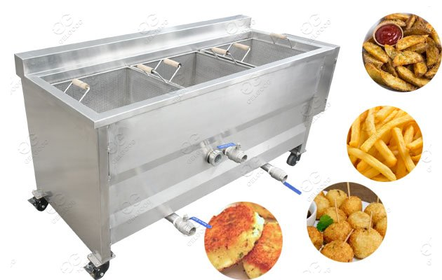 Potato Frying Machine/ Potato Ball Cakes Frying Pan/Potato Wedges Fryer