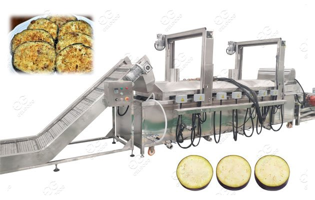 Aubergine Frying Machine Eggplant Frying Line