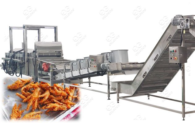 chicken feet frying machine