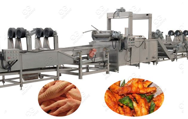 chicken feet frying line
