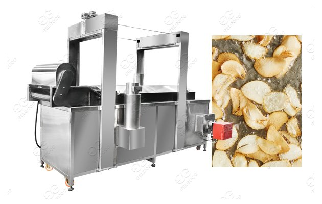 Continuous Garlic Frying Machin