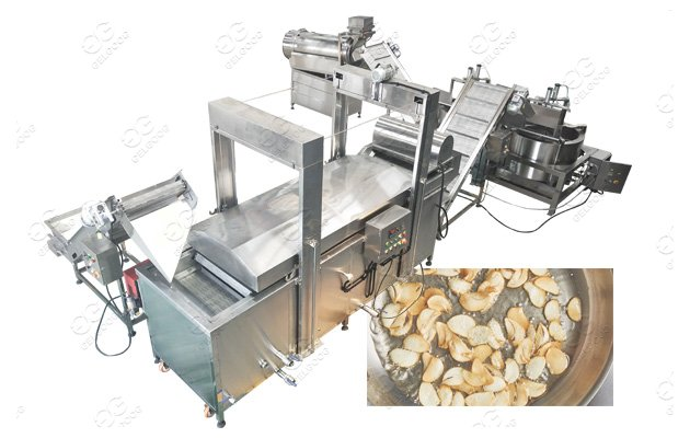 continuous garlic chips production line